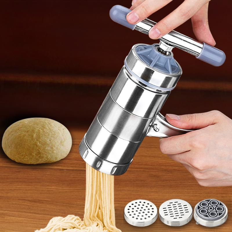 Quality Stainless Steel Noodle Maker With 5 Models vegetable noodle cutter Press...