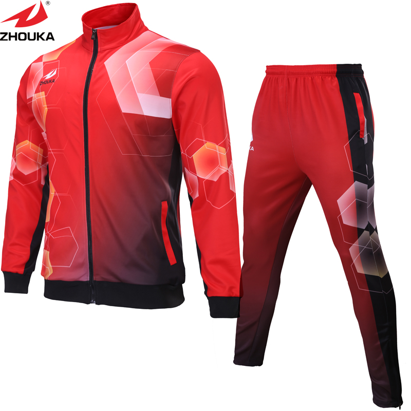 6a4b27b8cc Men long sleeve winter clothing customization sublimation soccer football  jacket football pants-in Trainning & Exercise Jackets from Sports &  Entertainment ...