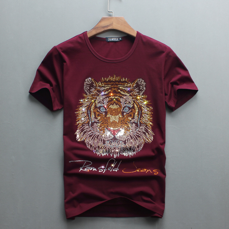 Partihandel Hot Sale Sale O-Neck Men Luxury Diamond Design Tshirt - Herrkläder - Foto 5