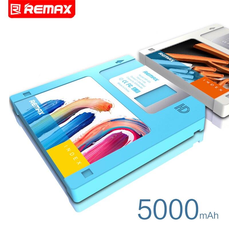 imágenes para Remax Usb Protable banco de la energía Diseño de Disco regalo fuente de alimentación móvil 5000 MAH Powerbank Cargador tesoro tarifa general