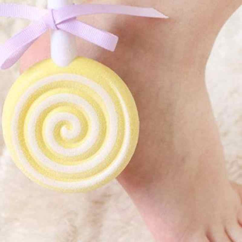 1 pc Kawaii mignon sucette Double Face meulage pierre frottement pieds à peau morte callosités cornée frottement pied pierre couleur aléatoire