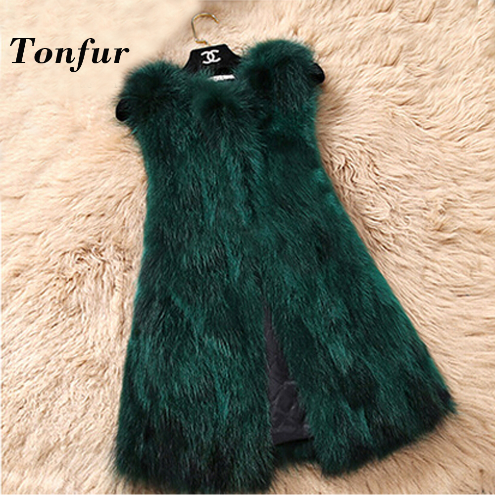 Genuine Raccoon Fur Vest Nature Women Raccoon Fur Gilet Factory Custom big size Wholesale Fur Waistcoat