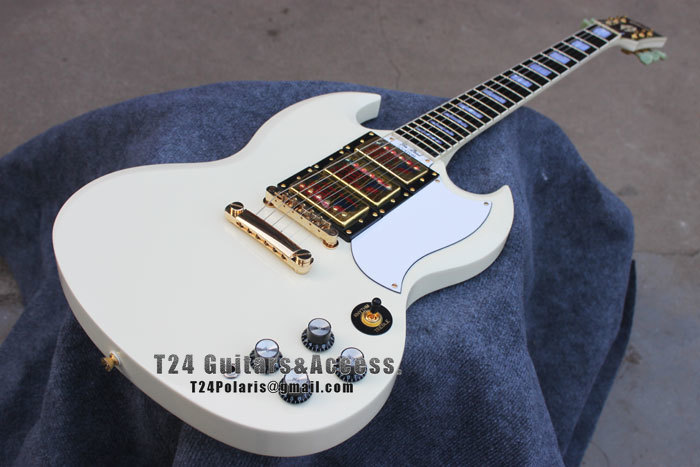 best price custom shop sg classic white electric guitar gold hardware free shipping in electric. Black Bedroom Furniture Sets. Home Design Ideas