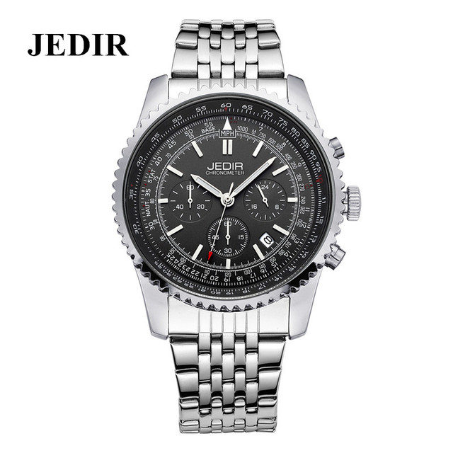 JEDIR Luxury Men's Business Watch Full Steel Quartz Wrist Watches 30M Waterproof Reloj Multifunction 24 hours date display