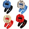New  2016 baby sets Batman style long sleeve o-neck cotton spring and autumn children's suit boys infant clothes BBS019