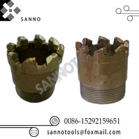Diamond compact bit PDC core drilling bit for break pebble, rock formation, water well exploration and geological of drill hole