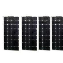 Flexible Solar Panel 100w 12v 4Pcs Zonnepanelen 400w Battery Charger Boat Car Marine Yacht Caravan Camping Waterproof
