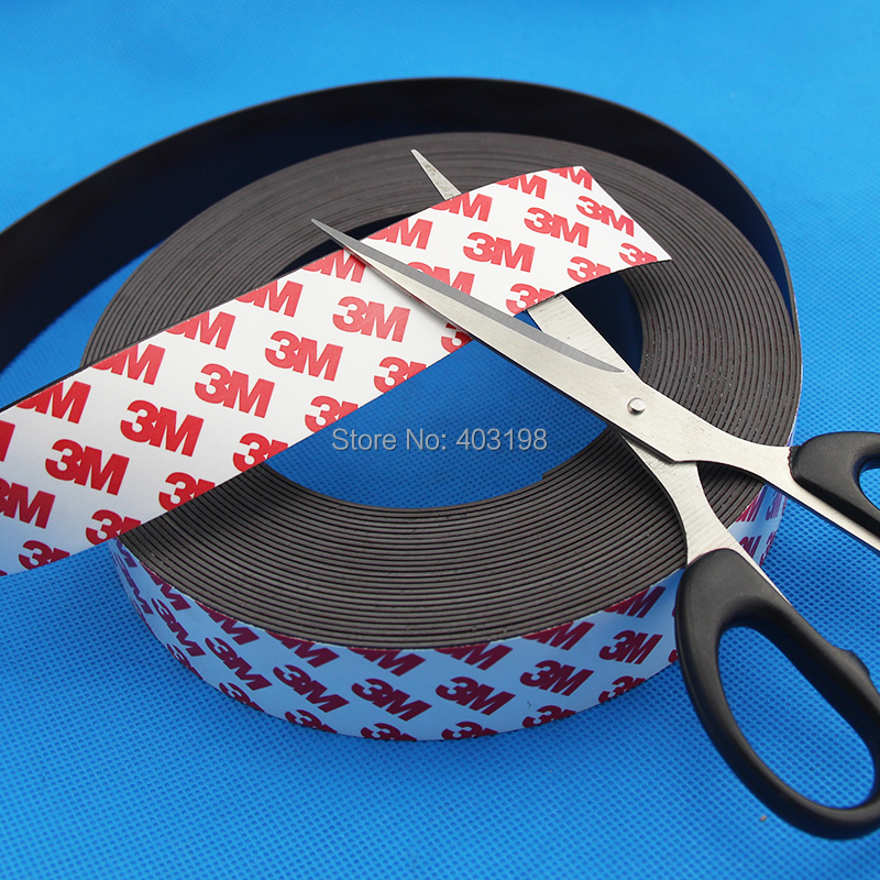 US $8 07 15% OFF|Free Shipping 2Meters self Adhesive Flexible Magnetic  Strip 3M Rubber Magnet Tape width30mm thickness 1mm-in Magnetic Materials  from