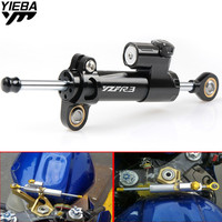YZFR3 Universal Aluminum Motorcycle Damper Steering Stabilize Safety Control For Yamaha YZF R3 R1 R6 R15 R25 MT 09 FZ09