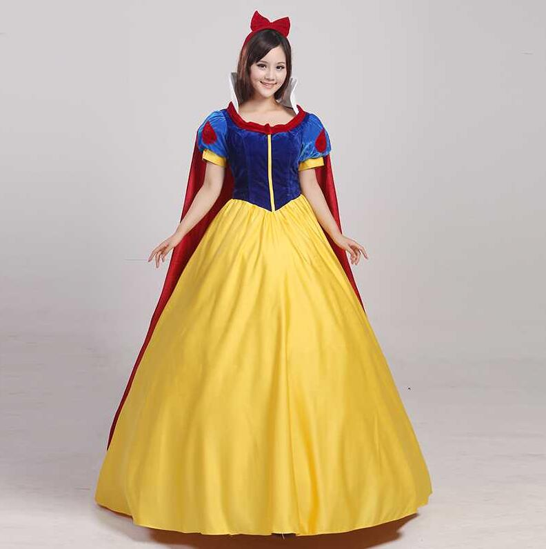 2019 Snow White Dress Costumes Snow Queen Costume Princess Cosplay Anna Made Women Holiday Party Clothing Costumes For Adults