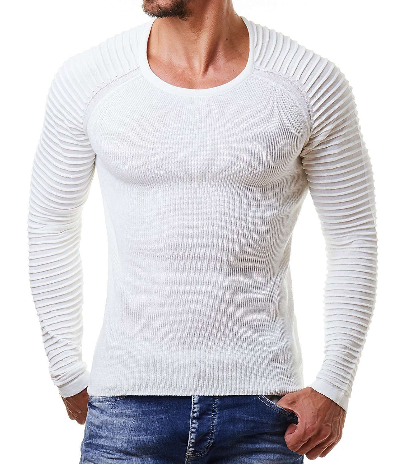 2018 Men Sweater Pullover O-neck Slim Fit Knitting Hombres Long Sleeve Sweaters Fashion V-neck Mens Sweaters M-XXL