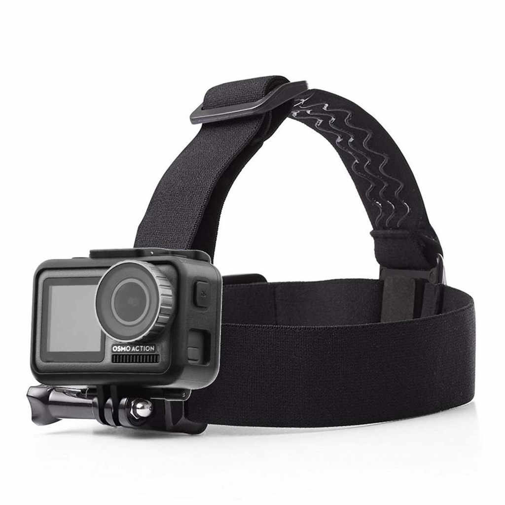 Head Strap Mount Belt Mount with Chin Belt Headband Holder For GoPro Hero Camera For DJI Osmo Action Camera Accessories BK L0527