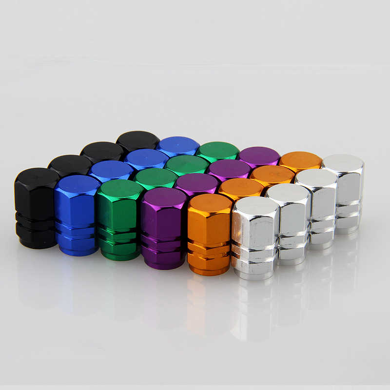4caps/set Aluminum Alloy Car Wheel Tyre Tire Valve Rim Stem Caps Air Dust Waterproof Covers