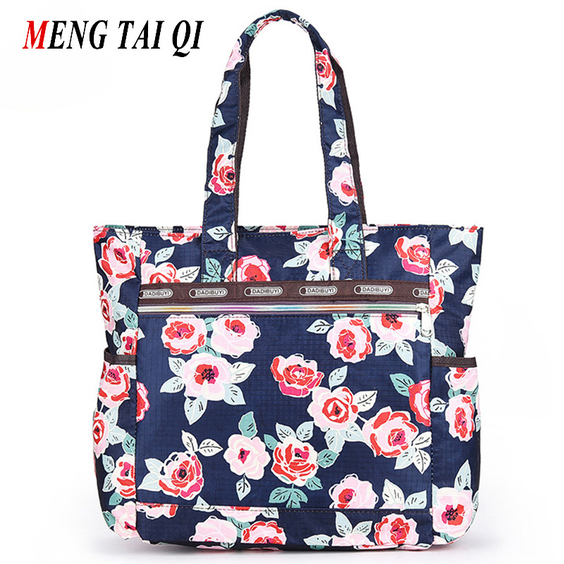 Designer handbags high quality nylon ladies shoulder bags women tote bag printin