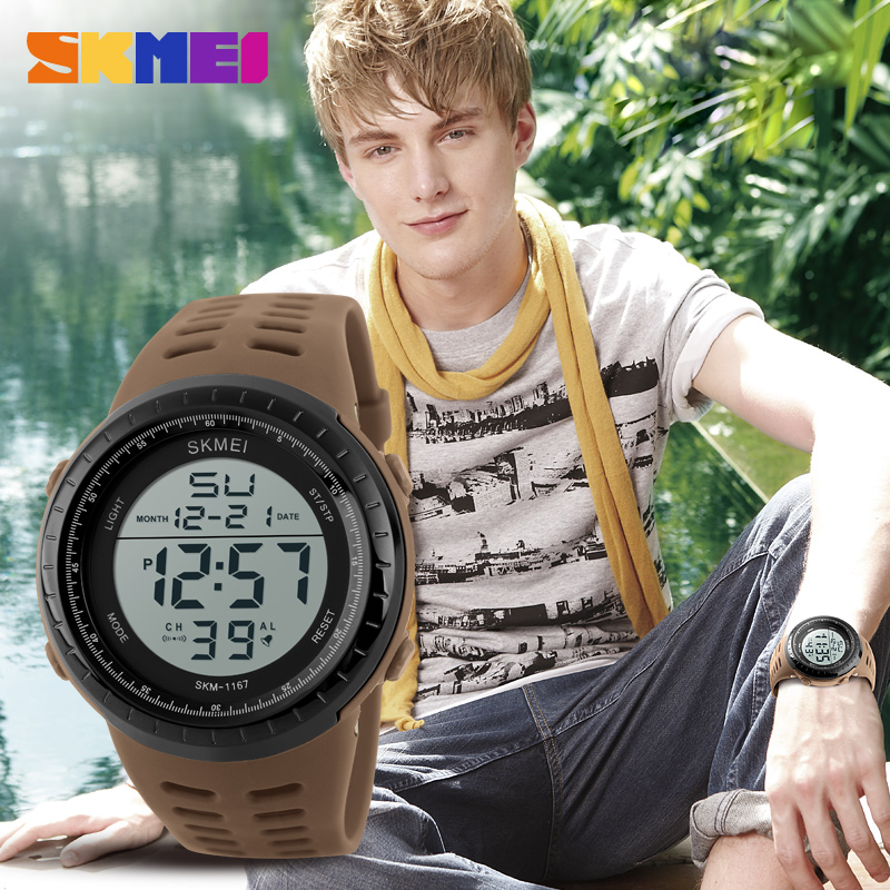 <font><b>SKMEI</b></font> Mens Sports Watches Luxury Army Outdoor Waterproof Digital Watch Military Casual Men Wristwatches Relogio Masculino <font><b>1167</b></font> image