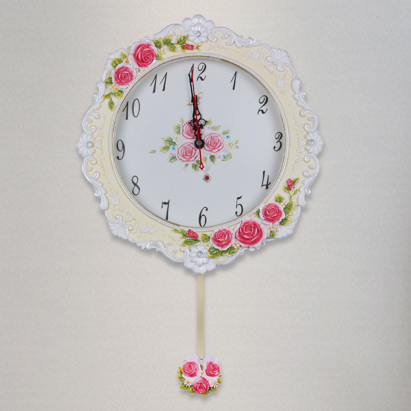 2015 Large Resin Wall Decor Clock Mechanism Silent For Kitchen