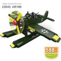 WW2 World War II Military German AR 196 Arado Flugzeugwerke GmbH fit legoingly DIY building blocks bricks kids toys boys gift