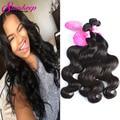 Peerless Virgin Hair 4 Bundles Brazilian Body Wave Human Hair Weave Bundles 7A Mink Brazilian Virgin Hair Body Wave Natural 1B#