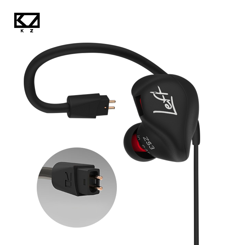 KZ zs3 Hifi Earphone Headset Headphones Metal Heavy Bass Sound With/Without Mic For Android/IOS Smartphone xiaomi iphone oppo PC kz headset storage box suitable for original headphones as gift to the customer