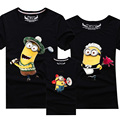 1Pc 2016New Family Matching Outfits Summer T-shirt Clothes Family Look Cotton Minions T-shirt 13Colors Mother Father Kids Qz010