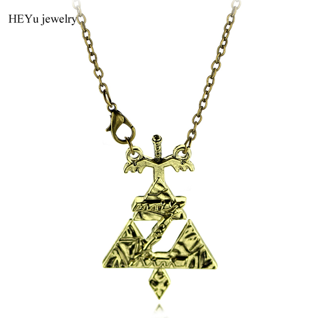 Letter Z Necklace ALP Anime Zelda Necklaces Sword Letter Z Necklace&Pendant Zelda Antique Bronze  Accessories Fashion Jewellery for Man Accessories