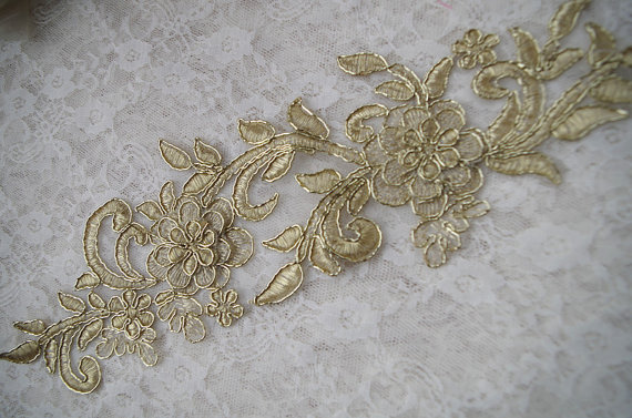 Antique embroidery lace appliques for repurpose k