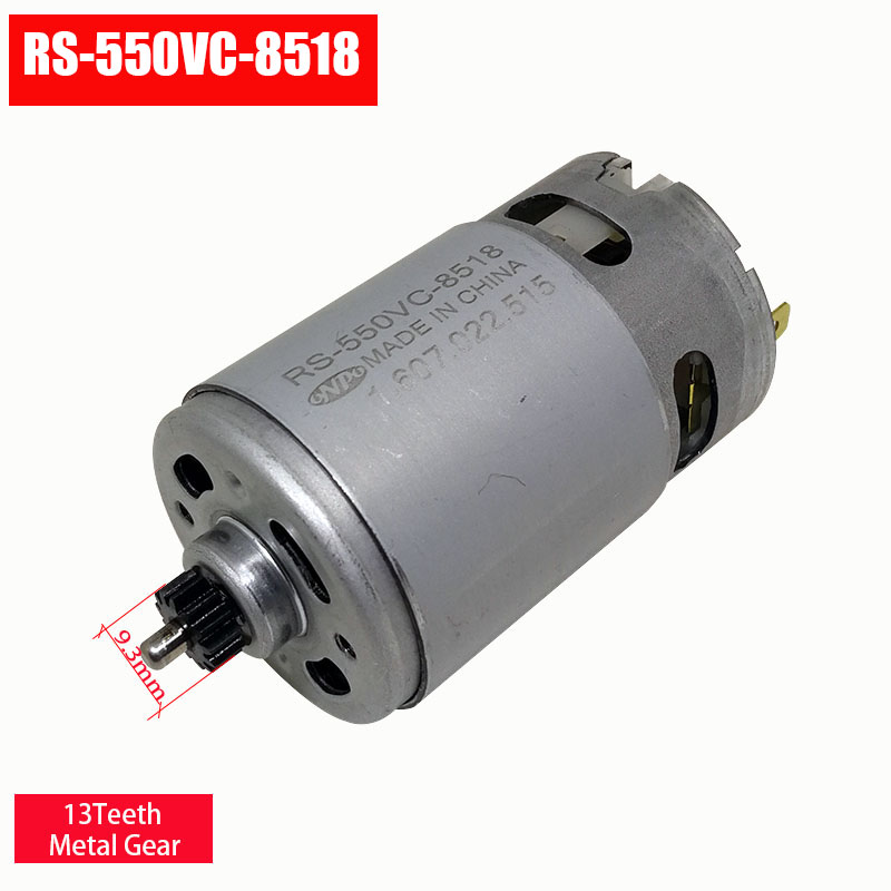 Electric Drill DC Gear motor  13 teeth RS 550VC 8518  for BOSCH GSR10.8V LI 2(3601H68100) Electric screw maintenance spare parts-in DC Motor from Home Improvement