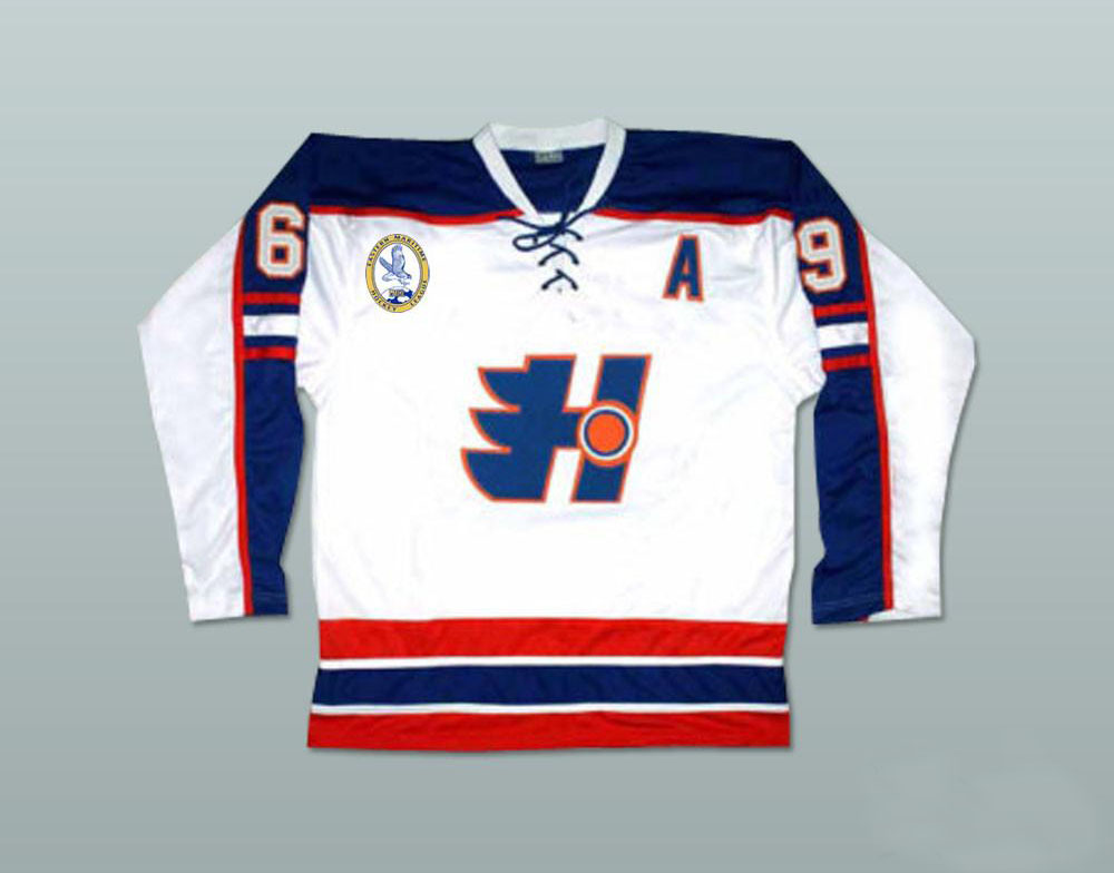 Doug The Thug 69 Doug Glatt Halifax Highlanders Hockey Jerseys Stitched With EMHL And A Patch Ice Hockey Jersey Viva Villa