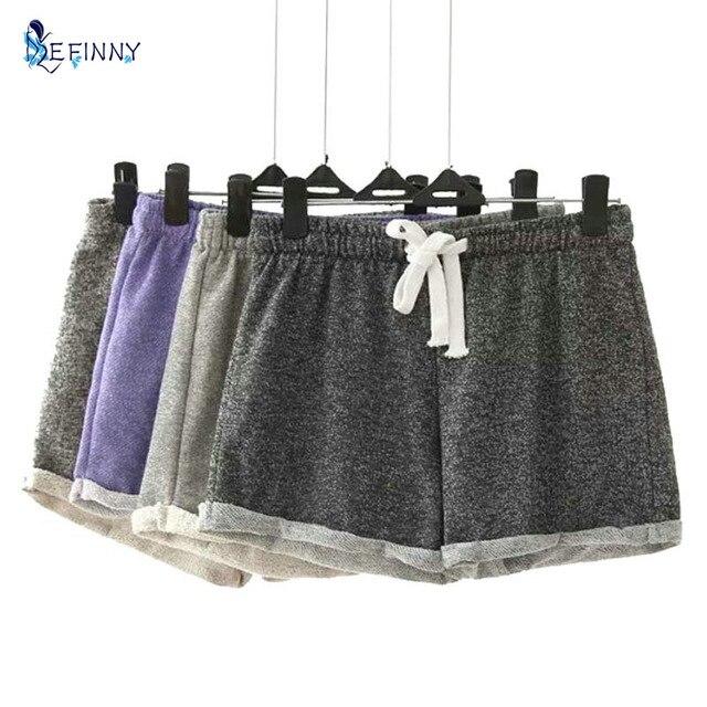 EFINNY Summer Women Modal Cotton Casual Candy Color Elastic Waist Female Esportes