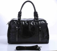 купить Free Shipping Newest Fashion High Quality Unisex Black JMD 100% Genuine Leather Travel Bag Handbag Tote Messenger Bag #7190A недорого