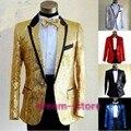 Nuevo Mens Boys Bling Lentejuelas Chaqueta de un botón de la boda Smoking Traje Gangnam Style Coat Tamaño Ml XL Chaqueta JAQUETA