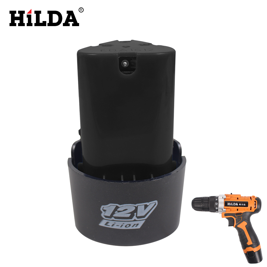 HILDA 12V Lithium Battery Rechargeable Electrical Drill Lithium Hattery Hand Electric Drill Battery For Power Tools Accessories
