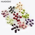 HUADODO 20pcs Artificial Berry Flower stamen Fake Fruit Scrapbooking DIY Wedding Party Christmas Decoration (1pcs=9 head)