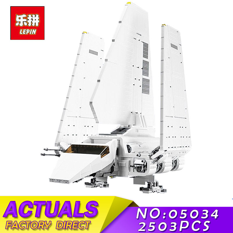 LEPIN 05034 2503Pcs Star Series Wars Assembled Imperial Shuttle Building Blocks Bricks Educational Toys for Children 10212 2503pcs large star wars sets imperial shuttle spacecraft the space battle building block toys kits best technic toys for kids