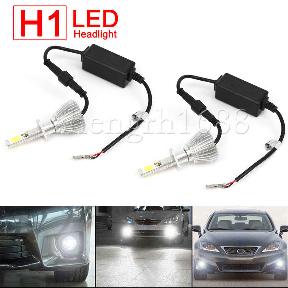 2X Super Bright Headlight lamp H1 LED  60W 6000Lm  LED car headlights Auto lamp 6000K 12V car-styling