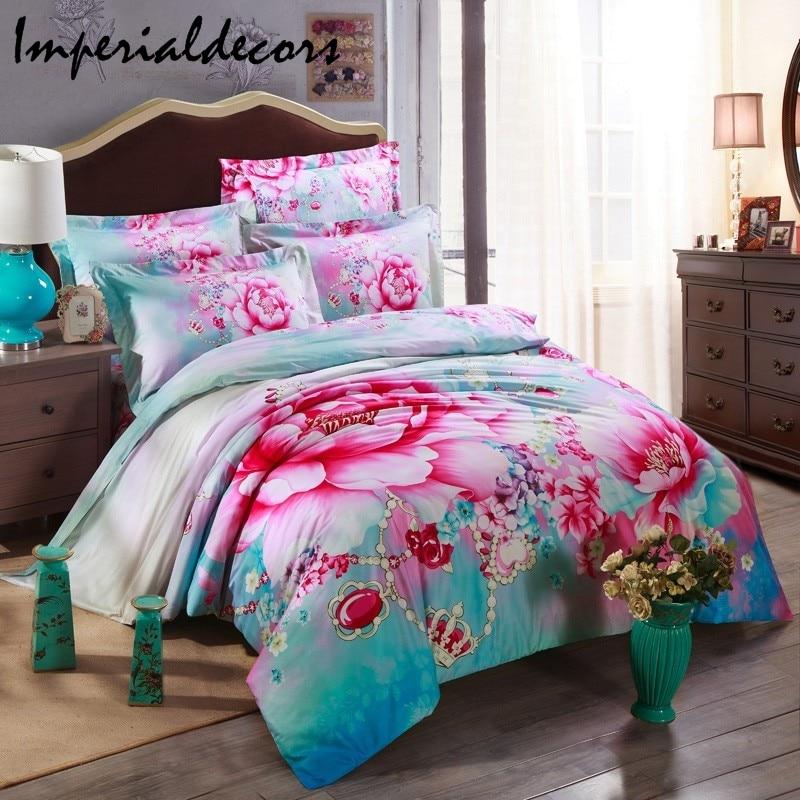 3D Floral Duvet Cover Bedding Set (Duvet Cover + Bed Sheet