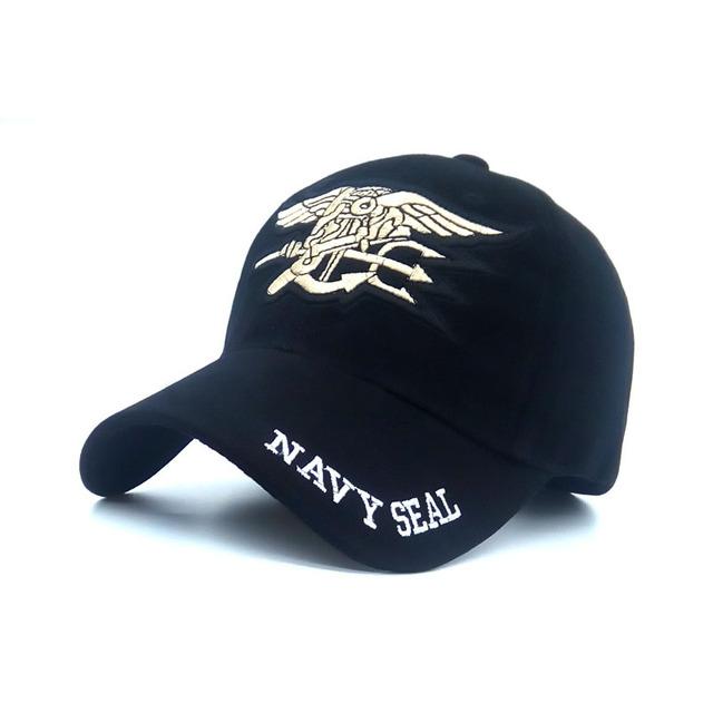 Chapéu Boné Snapback Chapéu Ajustável boné de Beisebol do selo da Marinha dos homens