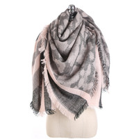 2017 Autumn and Winter New Linen Cotton Thick Warm Scarf For Women Leopard Camouflage Pattern Striped Fashion Luxury Scarves
