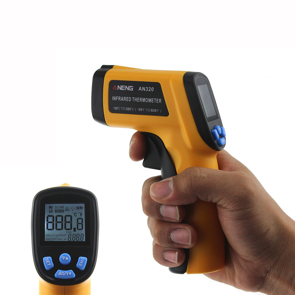 ANENG AN320 Non Contact Laser Digital IR Infrared Thermometer Termometro Digital Infravermelho Pyrometer Point Gun -50~330 Degre