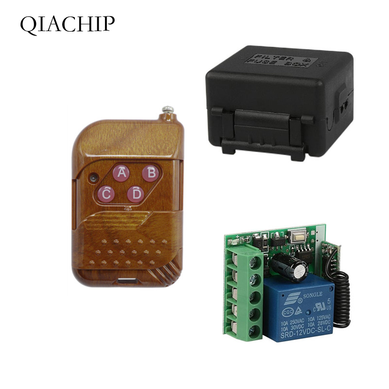 433Mhz Universal Wireless RF Remote Control Switch DC 12V 10A 1CH relay Receiver Module and 433 Mhz Remote Controls With battery image