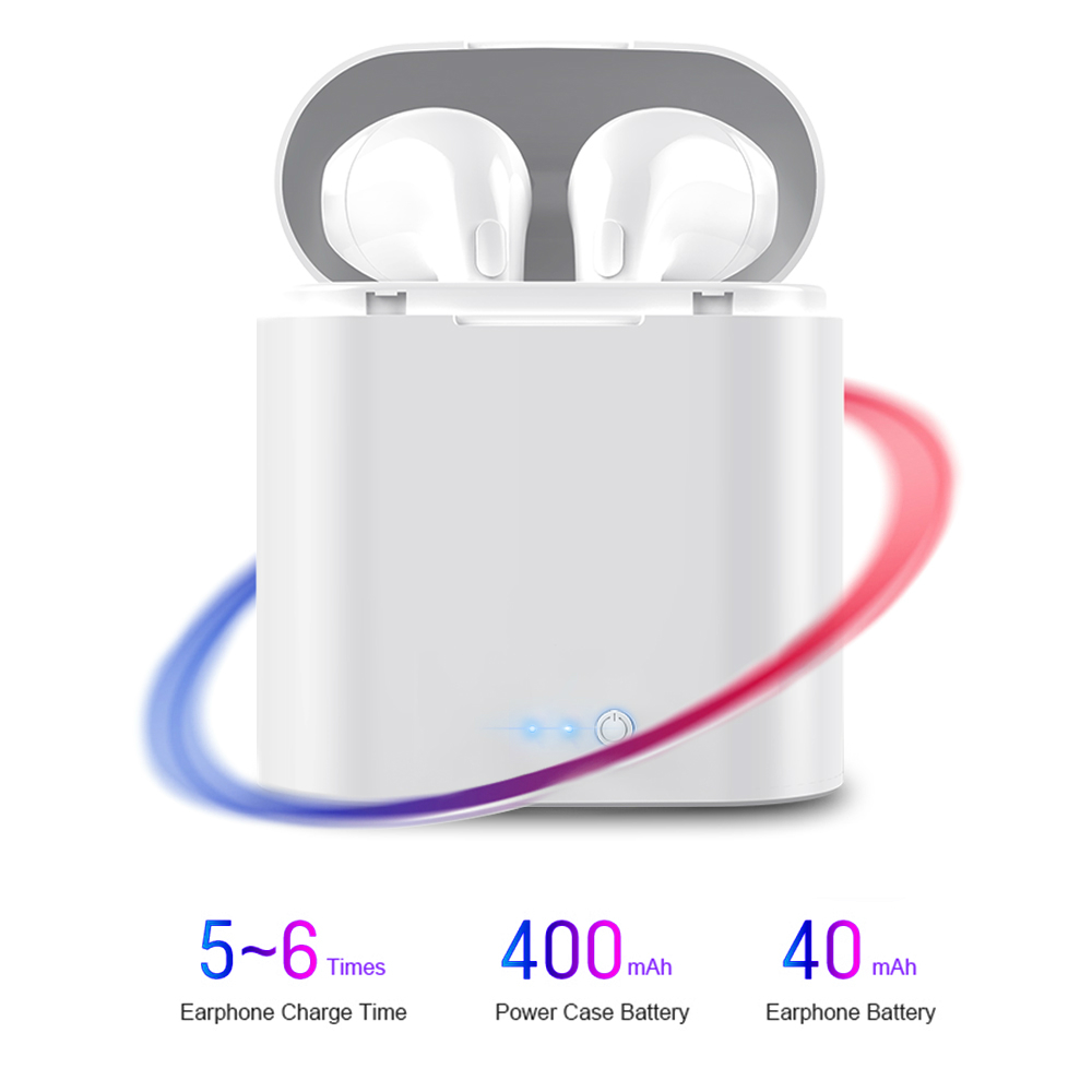 Image 4 - i7s TWS Mini Wireless Earbuds Sport Bluetooth Earphone Headphones With Charging Box Mic Stereo Android Headset For iPhone Xiaomi-in Bluetooth Earphones & Headphones from Consumer Electronics