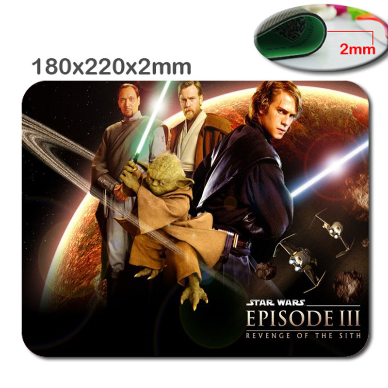220mm*180mm*2mm DIY star war Customized Rectangle Non-Slip Rubber 3D HD fast printing gaming rubber durable notebook mouse pad