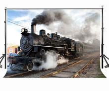 7x5ft Backdrop Old Steam Train Photography Background Studio Props