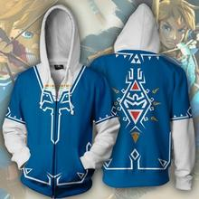 Game Cosplay Costume The Legend of Zelda Hoodie Sweatshirt Jacket Coats