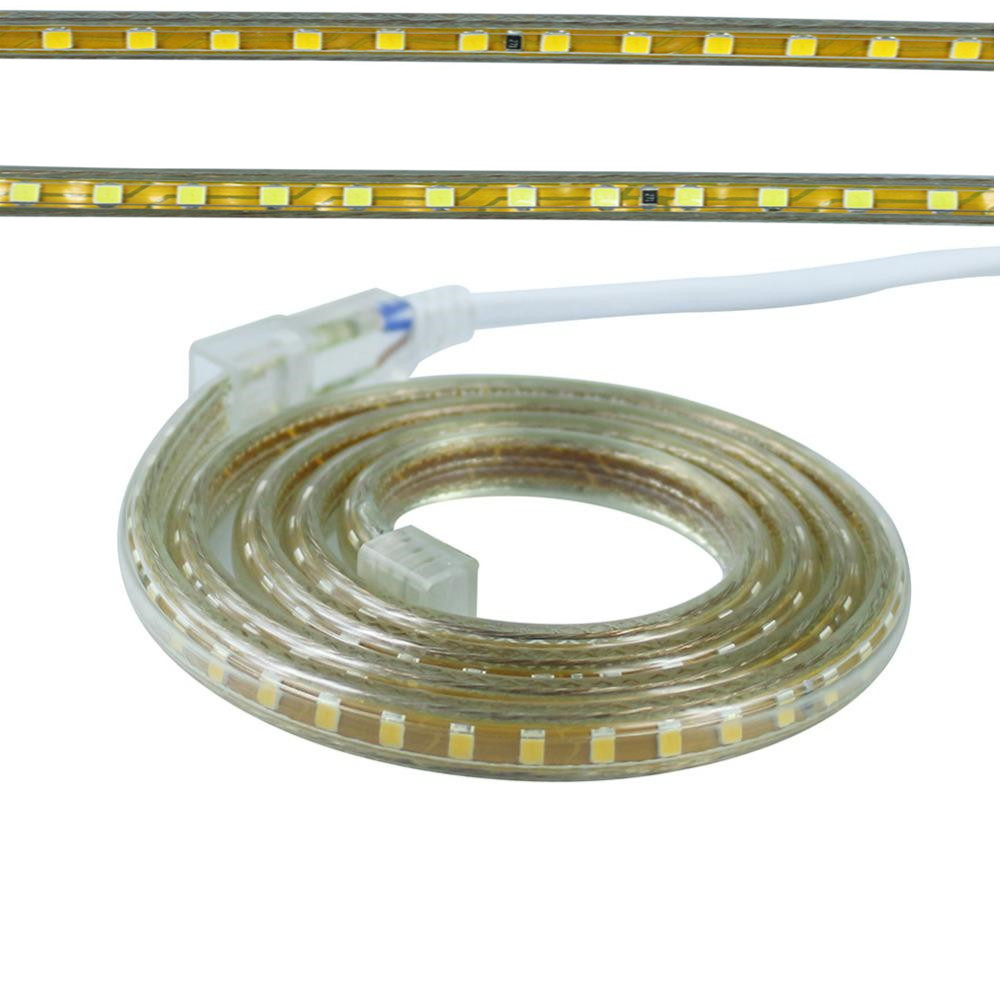 AC220V Led Strip SMD 2835 120Led/M White/Warm White Waterproof IP65 Led Tape Light With EU Power Plug 1M 2M 3M 4M 5M 10M 15M 20M