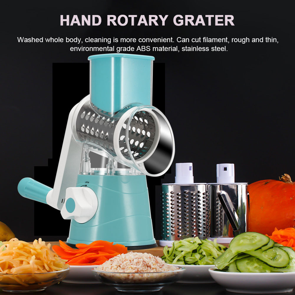 Multi-function Chopper Manual Rotating Grater Vegetable Fruit Cutter Kitchen Gadgets E2S