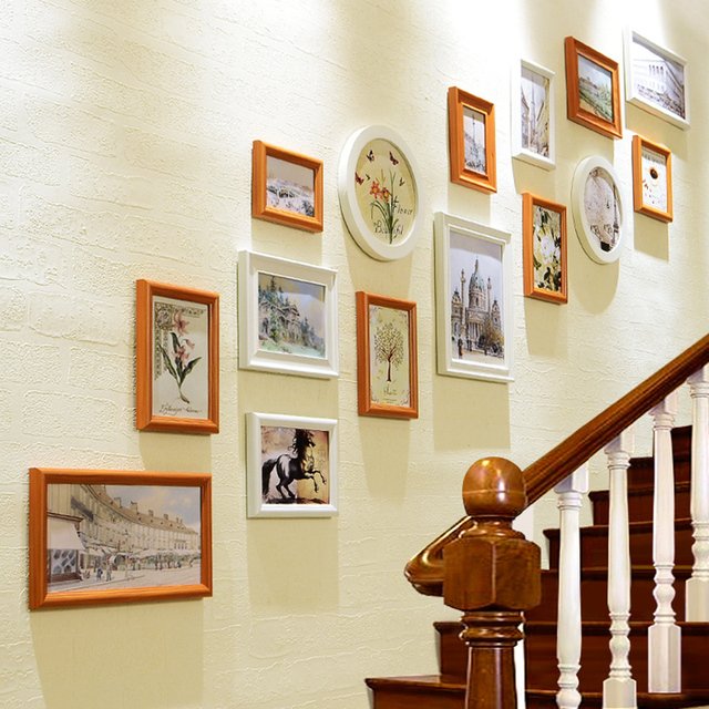 New Style Stairway Art Wall Hanging Photo Frames Set 15Pcs/set ...