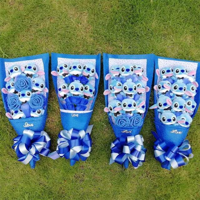 10 estilos ponto brinquedos de pelúcia com flor sabão ponto stuffed animal dos desenhos animados bouquets presentes criativos para o Dia Dos Namorados e aniversário