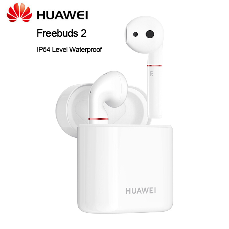 Huawei Freebuds 2 Bluetooth Headset with IP54 Level Waterproof Dust Proof Earphones for Huawei Mate 20