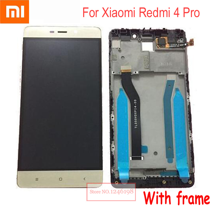 Best Working Original 10 point LCD Display Touch Panel Screen Digitizer Assembly with frame For Xiaomi Redmi 4 Pro ROM-32G